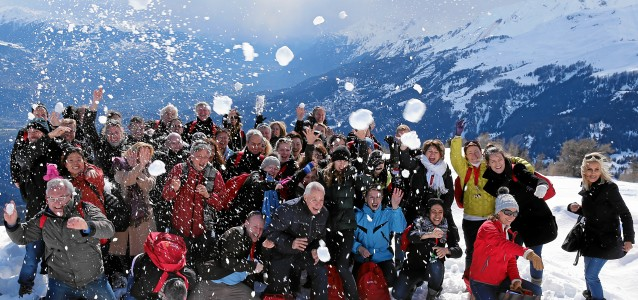 Ovation Trophy 2013: Team photo in Crans-Montana